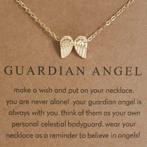 Jewelry - Guardian Angel Inspirational Gold Necklace New!